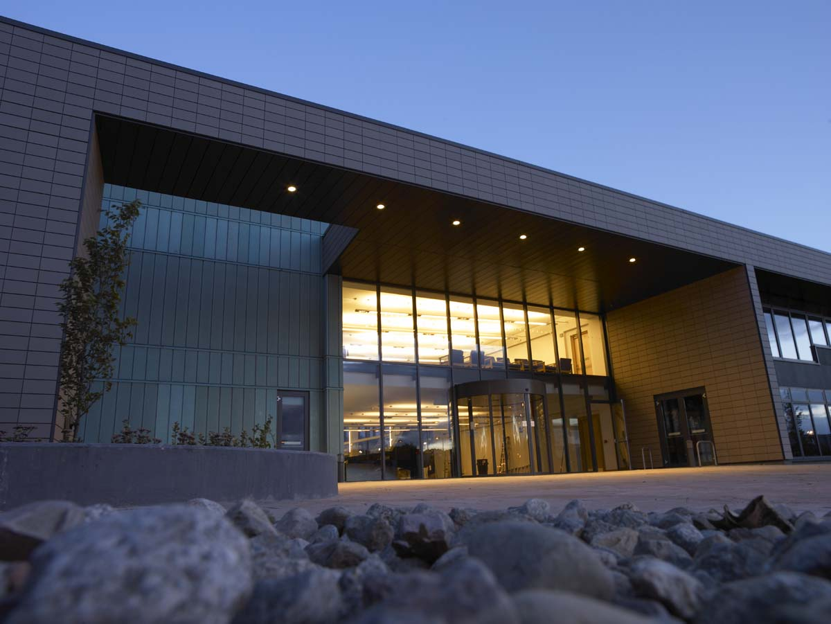 Centre for Health Science, Inverness - Entrance at Night