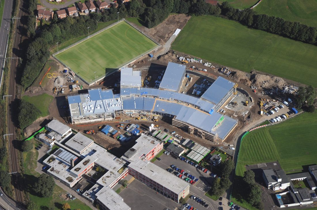 Vale of Leven Academy aerial view