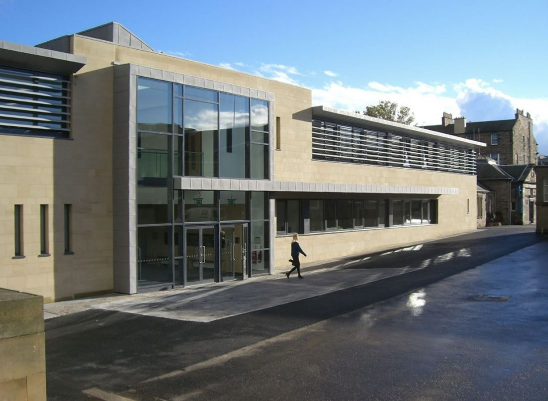 Edinburgh Academy The James Clerk Maxwell Science Centre Exterior with Entrance